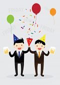 pic of office party  - Businessman party with Boss on friday - JPG