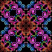 foto of precious stone  - illustration background with colorful ornaments and precious stones - JPG