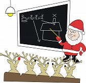 Santa Claus reindeer cartoon