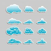 stock photo of hurricane clips  - Universal icons clouds  - JPG