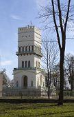 image of tsarskoe  - The White Tower in Tsarskoye Selo in Aleksandrovsky park Pushkin Russia - JPG