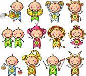 picture of zodiac  - Zodiac signs as little kids - JPG