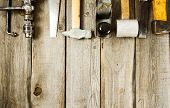 foto of carpenter  - Old working tools - JPG