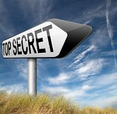 stock photo of top-secret  - top secret confidential and classified information private property or information sign   - JPG