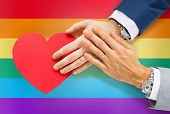 stock photo of gay flag  - people - JPG