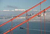 San Francisco Golden Gate Bridge And City