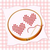 Two Hearts Embroidery
