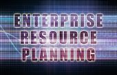 stock photo of enterprise  - Enterprise Resource Planning or ERP on a Business Chart - JPG