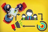 image of mentoring  - Coaching Leadership Mentoring Target Concept - JPG