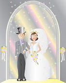 Постер, плакат: Невеста и жених