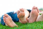 bare feet on grass