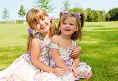 pic of cute little girl  - Two loving sisters - JPG
