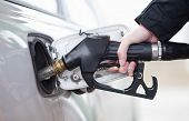 picture of gasoline station  - Car fueling at the gas station - JPG