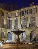Lovely fountain (Albertas  Fontaine d'Albertas) in Aix-en-Provence, France.