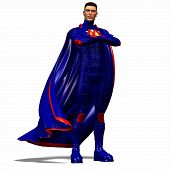 Blue Super Hero #1