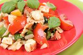 Vegetable and farfalle salad