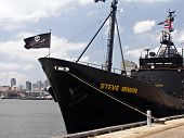 Sea Shepherd Anti-Whaling Ship - renamed after Steve Irwin