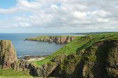 Coastline Of Scotland During Bright Summer Day poster