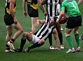 MELBOURNE - AUGUST 15: Collingwood's Alan Didak on the ground in their win over Richmond - August 15