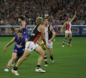 MELBOURNE - SEPTEMBER 18: Jason Gram of St Kilda in their win over the Western Bulldogs - Preliminar