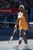 MELBOURNE, AUSTRALIA - JANUARY 25: Serena Williams in her win over Samantha Stosur at the 2010 Austr