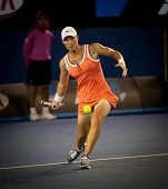 MELBOURNE - JANUARY 23: Samantha Stosur of Australia in her third round win over Alberta Brianti of