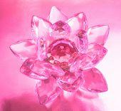 Diamond flower en fondo rosa