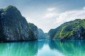 Beautiful View Of Lagoon In The Ha Long Bay, Vietnam poster