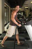 Man Exercising On Treadmill 3B