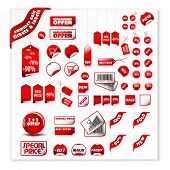 big set of price tags & labels - you can use it for any sale time or seasons