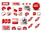 big set of vector price tags & labels- you can use it for any sale time or seasons