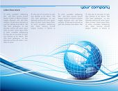 clean futuristic vector design template with earth globe
