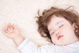 stock photo of sleeping baby  - Sleeping baby - JPG