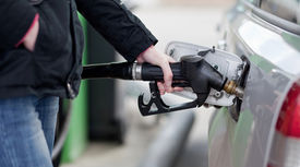 picture of fuel pump  - Car fueling at the gas station - JPG