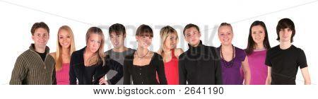 Постер, плакат: Группы человек Юн лица, холст на подрамнике