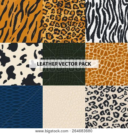 Seamless Leather Fur Textures Pattern