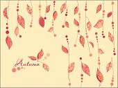stock photo of fall leaves  - Autumn Leaves Vector Background - JPG