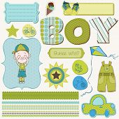 image of dungarees  - Scrapbook Boy Set  - JPG