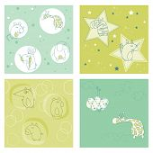 Set of seamless backgrounds for design and baby scrapbook - see more in my profile