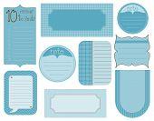 Vector conjunto de elementos de diseño - Marcos vintage y etiquetas