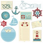 picture of beach party  - Scrapbook Sea elements - JPG