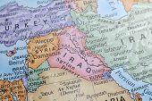 Makro Globus Karte Detail 12 Irak