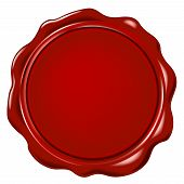 picture of wax seal  - red wax seal wit space for text - JPG