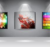 Show Room Art Gallery exposition or advertising of object or to use like an intro webpage for websit