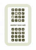 vector icon set  very useful  thirtytwo pieces   color and size as you wish