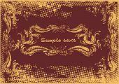 vintage cover design ,grunge& floral,vector