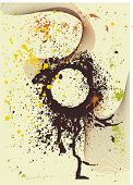 ink blots & abstract background ,vector illustration