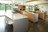 A modern kitchen that has been freshly remodeled