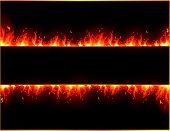 Vector van het branden van de banner