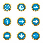 Insertion Cursor Icons Set. Flat Set Of 9 Insertion Cursor Vector Icons For Web Isolated On White Ba poster
